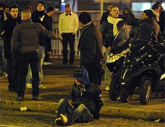 Imagen de los disturbios en París