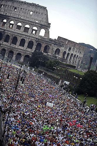 Salida del Marat�n de Roma
