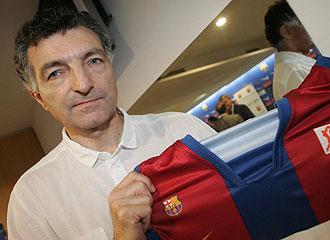 Joan Creus con la camiseta del Barcelona