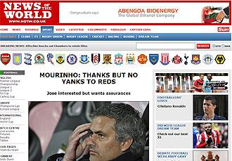 Informaci�n de 'News of the World' sobre Mourinho