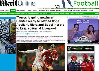 Informaci�n del 'Daily Mail' sobre Fernando Torres y el Liverpool
