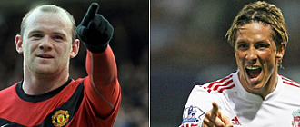 Rooney y Fernando Torres