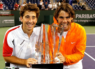 Marc L�pez y Rafael Nadal.