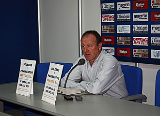 Luis Ángel Duque, en rueda de prensa.