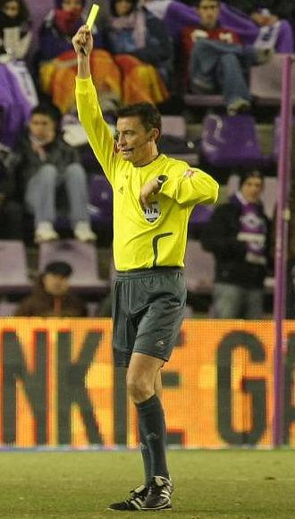 Mejuto, durante el partido Valladolid-Real Madrid