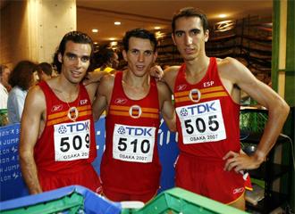 Gallardo, junto a Juan Carlos Higuero y Arturo Casado