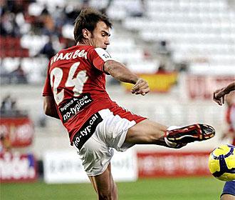I�aki Bea, en un partido del Murcia.