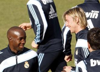 Guti y Lass, durante el entrenamiento