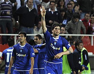 Gioda celebra un gol ante el Sevilla.