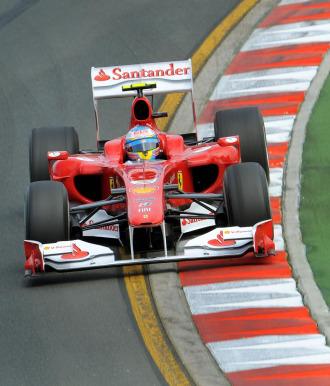 Fernando Alonso, en los primeros libres en Melbourne