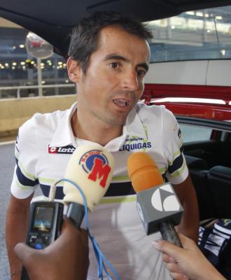 Manuel Beltrán en una foto de 2008 tras ser expulsado del Tour de Francia.
