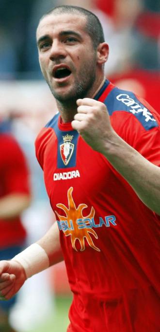 Pandiani celebra su gol al Almer�a