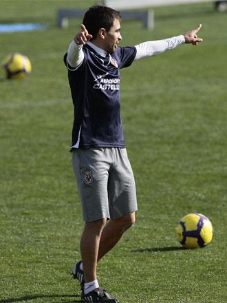 Ibagaza, en un entrenamiento del Villarreal