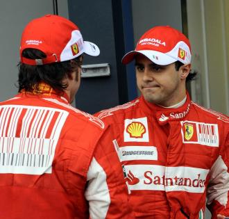 Alonso y Massa, en el circuito de Albert Park