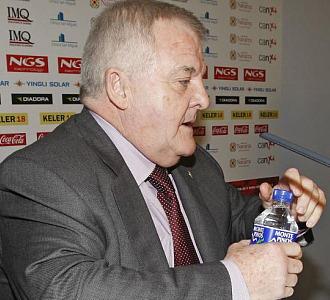 Pachi Izco durante una rueda de prensa.