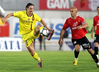 Ibrahimovic, durante el encuentro ante el Mallorca