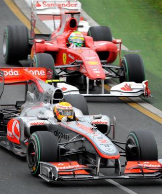 Hamilton y Massa, en el Gran Premio de Australia