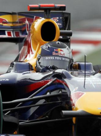 Vettel, a los mandos de su RB6 en Albert Park