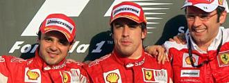 Massa, Alonso y Domenicali