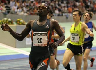 Bungei, durante una prueba de 800 m.