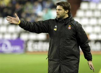 Mauricio Pochettino, durante un partido del Espanyol
