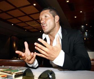 Simeone durante una entrevista a MARCA