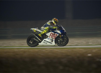 Rossi en los entrenamientos en Qatar