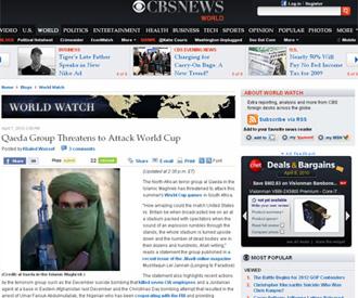 Informaci�n de la cadena CBS sobre la amenaza