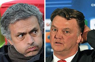 Mourinho (Inter) resopla; Van Gaal (Bayern) se rasca la nuca.