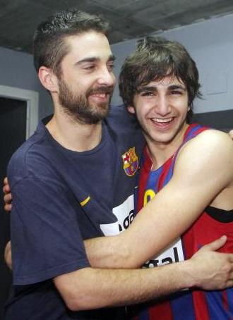 Navarro y Ricky tras lograr el pase a la Final Four