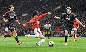 El Milan cay� eliminado de la Champions en octavos de final ante el Manchester United.