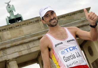 García Bragado en el Campeonato del Mundo de Berlín