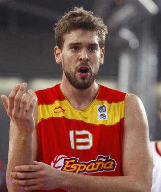 Marc Gasol, en un partido del Eurobasket.