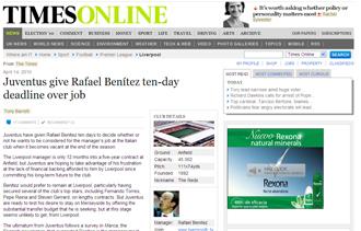 Informaci�n del Times sobre Rafa Ben�tez
