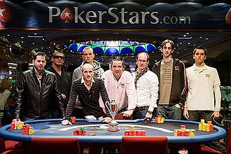 Mesa final del Estrellas Poker Tour.