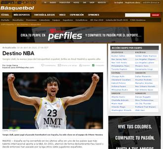 informaci�n sobre Sergio Llull en la ESPN
