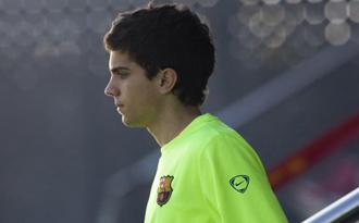 Bartra durante un entrenamiento con el Barcelona