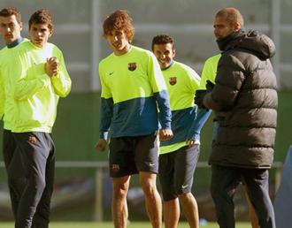 Muniesa ya ha participado en varios entrenamientos del primer equipo.