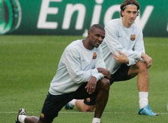 Ibrahimovic y Abidal.