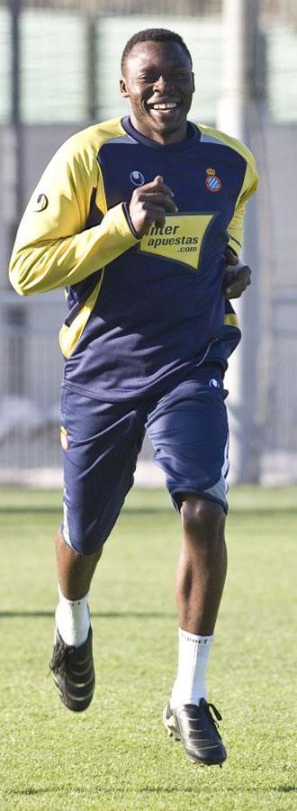 Kameni, en un entrenamiento.