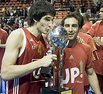 Lescano y Quinteros celebran el ascenso.