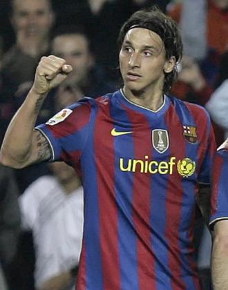 Ibrahimovic celebra un gol.