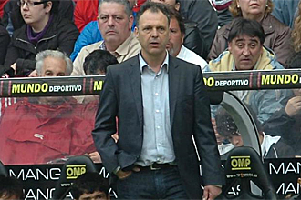 Joaquín Caparrós, durante el partido ante el Zaragoza