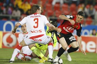 Monreal durante el partido que enfrent� a Osasuna y Mallorca
