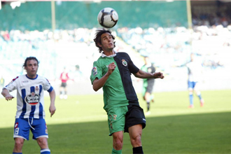 Toni Moral durante un partido ante el Espanyol.