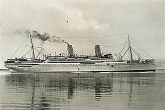 El Conte Verde, barco italiano utilizado por las selecciones para acudir al primer Mundial
