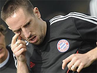 Rib�ry, en un entrenamiento del Bayern.