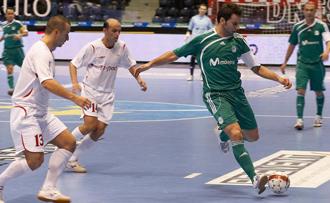 Partido entre Inter Movistar y el Era Pack, de la Ronda �lite de la UEFA Futsal Cup