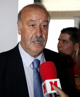 Del Bosque atiende a MARCA.com durante un acto