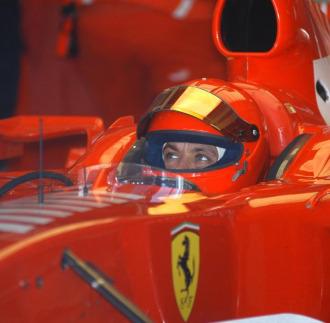 Rossi, a los mandos de un monoplaza de Ferrari en una de las pruebas que ha llevado a cabo 'Il Dottore'